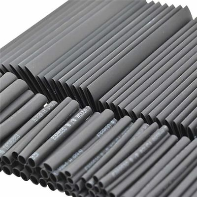 127Pcs Car Electrical Cable Heat Shrink Tube Tubing Wrap Sleeve Assorted Black