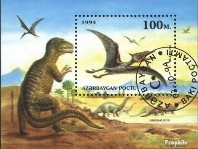 Aserbaidschan block7 (complete issue) used 1994 Prehistoric Ani