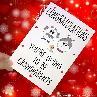 Greeting Cards You're Going To Be Grandparents Mum Dad Surprise New Baby PC181