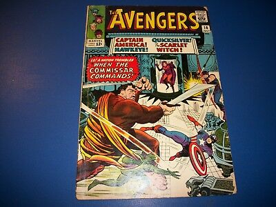 Avengers #18 Silver Age Scarlet Witch Quicksilver Solid VG-/VG