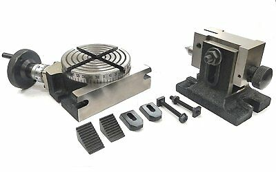 """4""""/100 Mm Rotary Milling Indexing Table+Tailstock M6 Clamp Kit"""