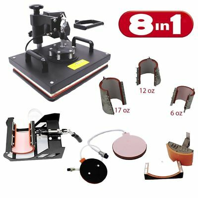 8in1 Combo Digital Heat Press Machine, Multifunctional Transfer Sublimation PJ42