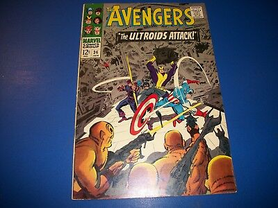 Avengers #36 Silver Age Book  Goliath Quicksilver Scarlet Witch Solid VG+