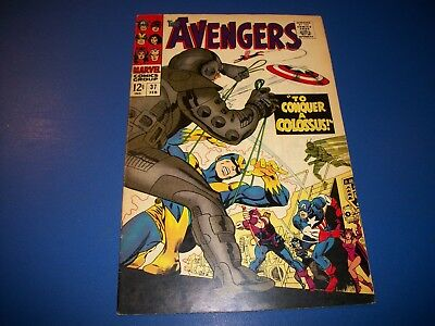 Avengers #37 Silver Age Book  Goliath Quicksilver Scarlet Witch Fine+ Beauty