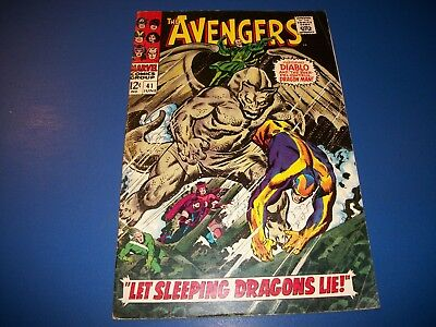 Avengers #41 Silver Age Dragon Man Solid VG