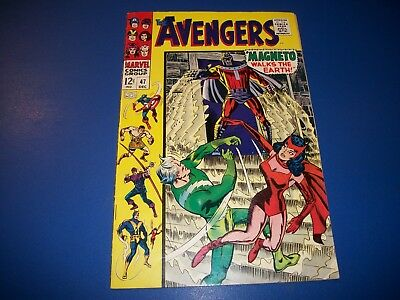 Avengers #47 Silver Age Magneto Quicksilver Scarlet Witch Wow VGF