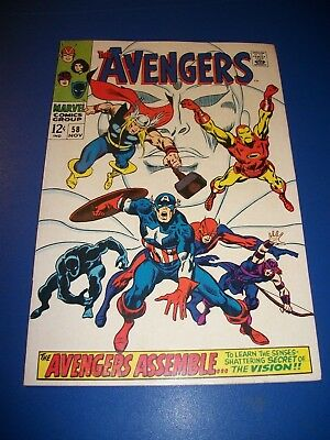 Avengers #58 Silver Age 2nd and Origin of the Vision Ultron Key Wow Fine Beauty