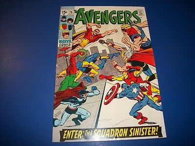Avengers #70 Silver Age 1st Squadron Sinister Wow Fine+ Beauty