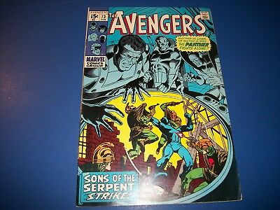 Avengers #73 Silver Age Comic Black Panther Wow Nice Fine+