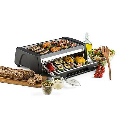 Klarstein Doppeldecker Four Grill Barbecue 2-en-1 revêtement antiadhésif - inox