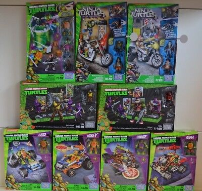 Mega-Bloks Teenage Mutant Ninja Turtles  Konvolut   SONDERPREIS 9 Packungen