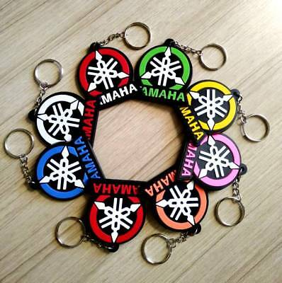 YAMAHA Logo Keychain Rubber Keyring Motorcycle Bike Modern New Collectible Gift