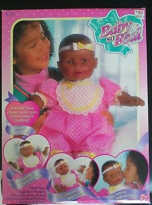 """VINTAGE 1995 TOY BIZ """"BABY SO REAL"""" MOVING BABY DOLL w/ORIGINAL OUTFIT - BNIB"""