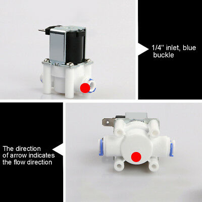 """1pc Water Purifier 1/4"""" Quick Connect DC 24V Inlet Valve Solenoid Valve RO B01"""