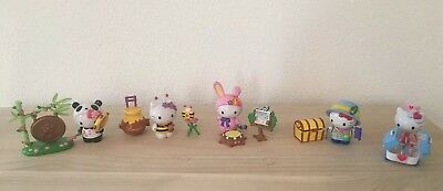 Hello Kitty Figuren, 5 Stück, Happy Forest, Panda, Biene, Hase, Safari, Kawaii