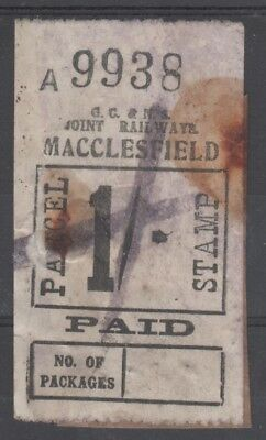 Great Central & North Staffordshire Joint Railways 1/- Stamp Used Macclesfield