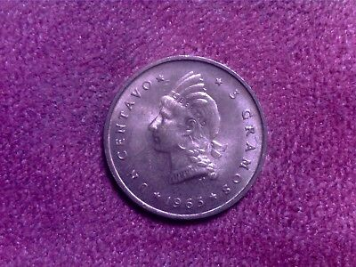 Dominican  Republic 1 Cent 1963 Nice Coin
