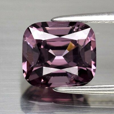 2.71ct 8.4x7.4mm Cushion Natural Pinkish Purple Spinel, M'GOK