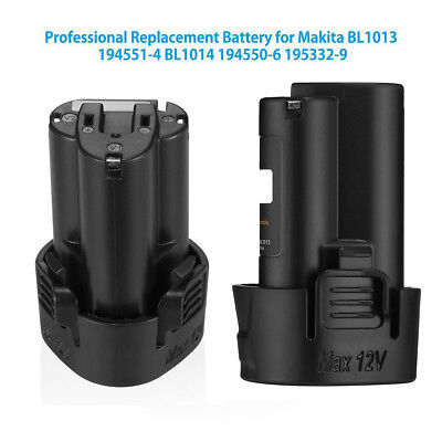 2 Pack New 10.8V 1.5Ah Li-ion Replacement Battery for Makita BL1013 BL1014 TP