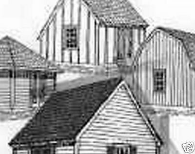 BARN TOWN HOUSE TRUSS POLE STALL SHED BUILDING PLANS Plumbing Construction CD