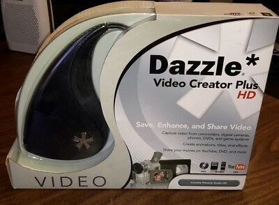 DAZZLE VIDEO CREATOR PLUS HD DVC-107  W/ PINNACLE STUDIO New Fast Free Shipping