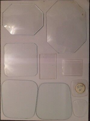 Clock Glass And Acrylic Convex & Flat Collection 9 Clockmakers Spare Parts