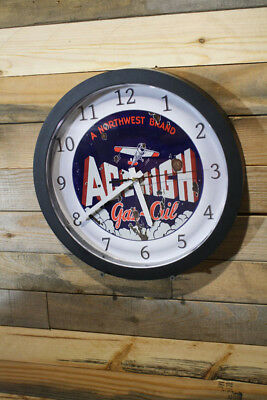 Ace High Gas Oil Northwest Brand Aviation Wall Clock 12 inch Silent Sweep Hand