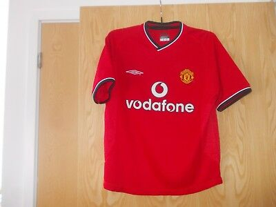 Manchester United Home Football Shirt By Nike Size Youth - Seasons 2000/02