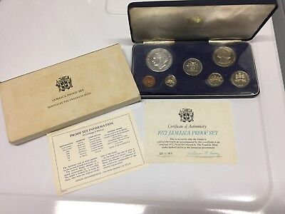1972 Jamaica Proof Set w/ $5 silver Original Minted at The Franklin Mint NR + FS
