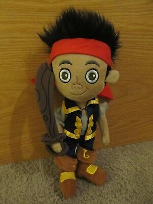 "Disney Store Jake And The Neverland Pirates 12"" Soft Plush Doll Toy *ln"