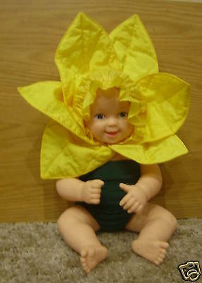 Anne Geddes Baby Daffodil Vinyl Doll *ln* No Box So Cute