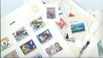 Middle East stamps. Used lot mainly CTO from Qatar, Saudi Arabia, etc (B658)