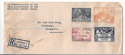 1949 Singapore 75th Anniversary of the Universal Postal Union Cover