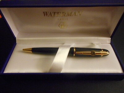 Very Nice Waterman Phileas Black & Gold  Ballpoint Pen In Original Box