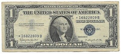 Old Rare Antique US Blue Seal Silver Dollar Bill Certificate Collection ☆ Note!!