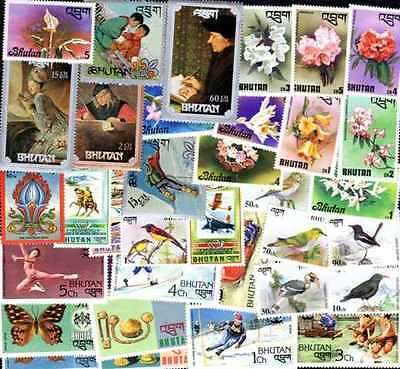 Bhutan - Bhutan 500 stamps different obliterated