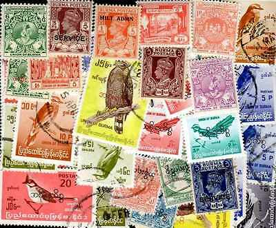 Burma - Burma 300 stamps different obliterated