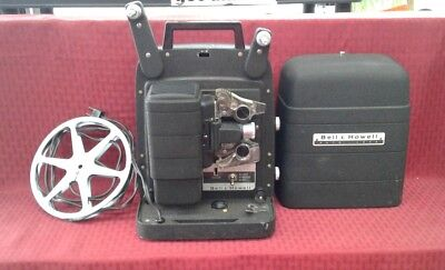 Vintage Bell & Howell Auto Load 8mm Movie Projector Model 25 WORKING Condition!
