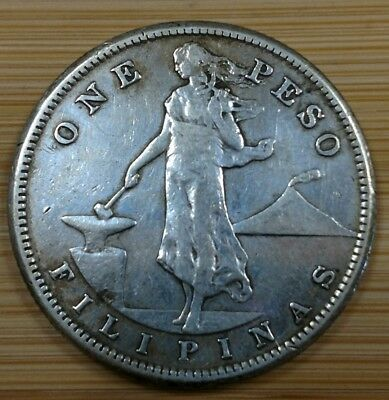 1907-S Filipinas One Peso Silver Coin - Better Date