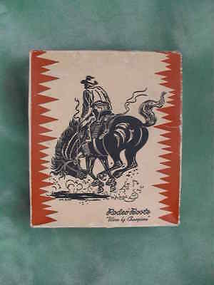 Vtg Advertising Rodeo Brand Western Cowboy Boots Cardboard Box