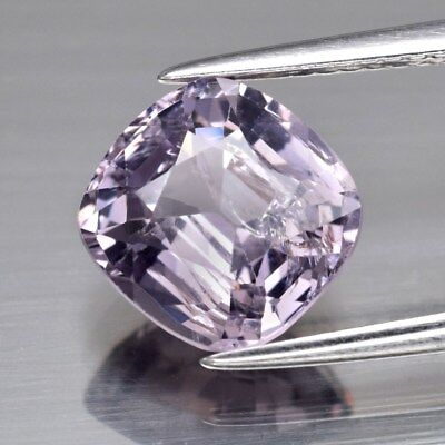 3.15ct 9x8.6mm Cushion Natural Purple Spinel, M'GOK