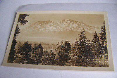 Rare Antique Vintage RPPC Real Photo Postcard Beautiful Mountain Idyllic View