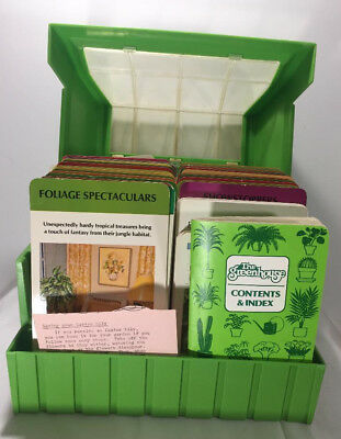 1978 Vintage The Greenhouse Box Set Index Plant Care Guide Cards Gardening