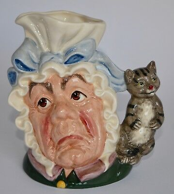 Rare - Large Royal Doulton THE COOK AND THE CHESHIRE CAT Toby Jug D6842 - Alice