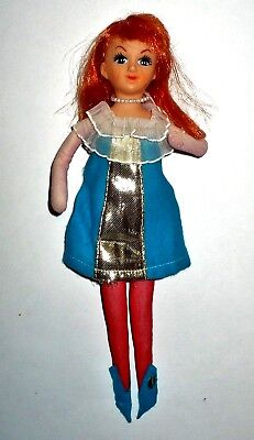 "Vintage Avlon 10"" Girl Doll With Wired Legs & Arms Ornament Japan Vgc"