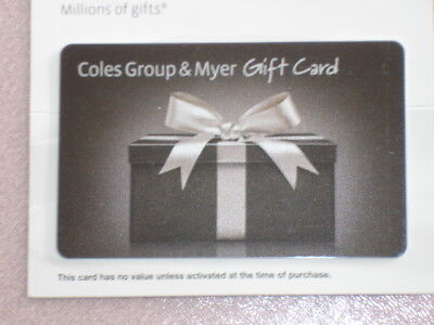 Coles Group & Myer Gift Card   $20 Valid untill  2020