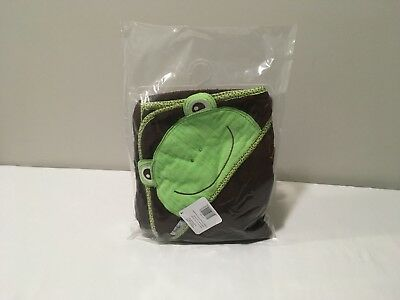 """Hooded Towel Frog Frenchie Mini Couture Baby Bath -Extra Large 40""""x30"""" Absorbent"""