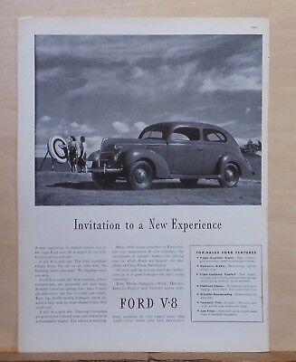 1939 magazine ad for Ford - Ford & archers, Invitation to a New Experience