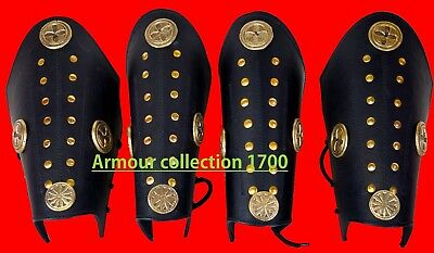 Collectible Halloween Costumes Roman Leather Armor Leg & Arm guard father gift