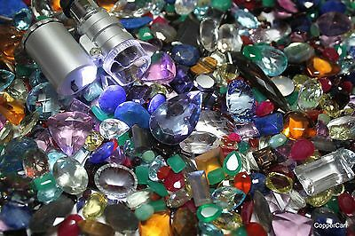 100 + Carats Genuine Real Faceted Cut Gems Best Gemstone Deal Ruby Emerald More!